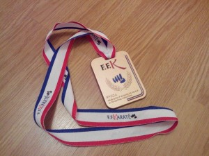 medaille gros plan
